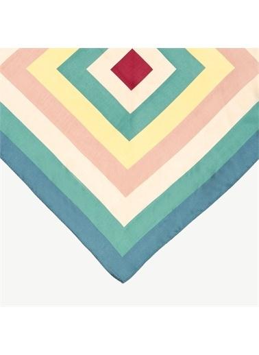 Yargıcı Retro Desenli Fular Renkli